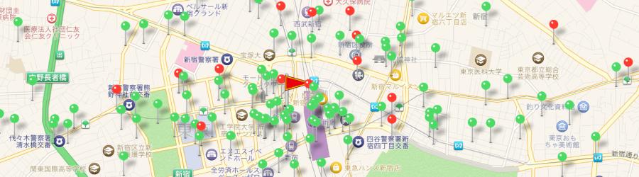 GPS機能サンプル画面
